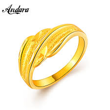 top wedding ring brands top brand women accessories party rings 24k gold filled