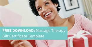 free massage therapy gift certificate template u2014 american massage