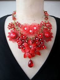 red flower necklace images 251 best bib necklaces images bib necklaces jpg