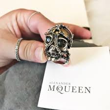urban skeleton ring holder images Alexander mcqueen jewelry auth crystal skull ring poshmark jpg