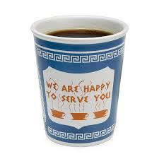 Tea And Coffee Mugs Ceramic Greek Coffee Cup We Are Happy To Serve You Diner Mug
