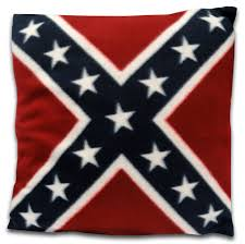 Truck With Rebel Flag Confederate Rebel Flag Throw Pillow