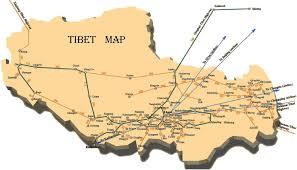 Tibetan Plateau Map Tibet Travel Map Tibet Maps Tibet Attraction Maps Tibet Lhasa Map