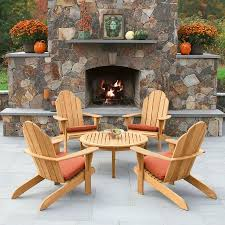 Adirondack Coffee Table - teak outdoor tables seneca round coffee table country casual