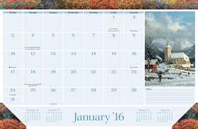 thomas kinkade painter of light 2015 2016 16 month desk pad calendar