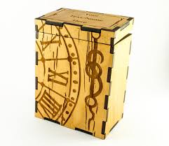 magic the gathering deck box clock and hand tcg deck box