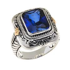 silver sapphire rings images Bali designs by robert manse 4 8ct created blue sapphire sterling jpg