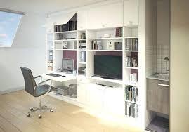 bureau bibliothèque intégré bibliotheque de bureau gamme cracative bibliothaque rangement