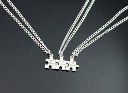 ebay necklace silver images 5 best friends bff puzzle piece necklaces silver tone charms on jpg