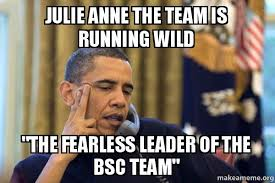 Anne Meme - julie anne the team is running wild the fearless leader of the