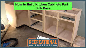 how to build a base for cabinets to sit on how to build kitchen cabinets part 1 sink base step by step tutorial to build your own cabinets