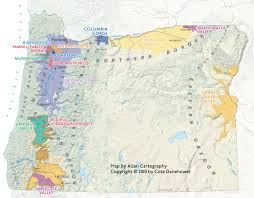 Washington Wineries Map by Temmermand Wine Food Craft
