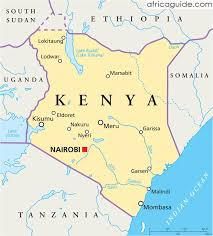 geographical map of kenya kenya travel guide