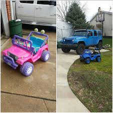 power wheels jeep barbie my nephew loves my jeep so i bought this barbie jeep and made it