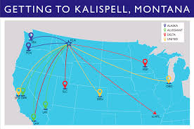Allegiant Air Route Map by Getting Here Kalispell Montana