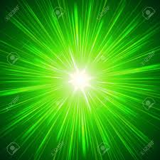green with shining light rays abstract background stock