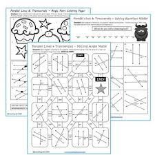 lines and transversal maze riddle coloring page fun math
