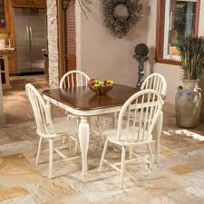 beaufort dark oak u0026 antique white dining set u2013 noble house furniture