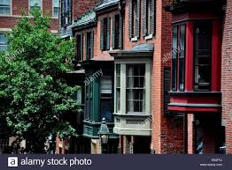 boston massachusetts bay windows front 19th century brick homes