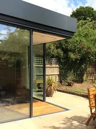 tinted sliding glass doors open corner created with minimal windows sliding glass doors
