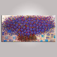 Bedroom Wall Canvases Abstract Painting Bedroom Wall Art Flower Painting Abstract