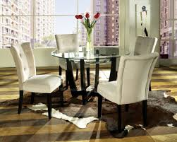 breakfast table and chairs merry glass dining room table set 5 piece 4 leather chairs kitchen