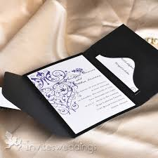 wedding pocket envelopes purple swirls black pocket wedding invitations iwps057