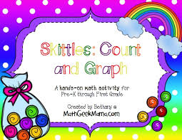 skittles math count and graph free printables