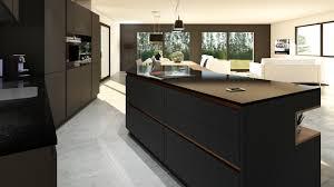 cuivre cuisine cuisine gris anthracite bois et cuivre avec îlot design
