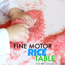 rice table for kids sensory pre handwriting activity rice table the ot toolbox