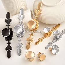 Online Buy Wholesale Crystal Cabinet Pulls From China Crystal - Kitchen door cabinet handles