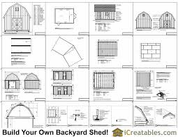 14x18 gambrel shed plans 14x16 barn shed plans