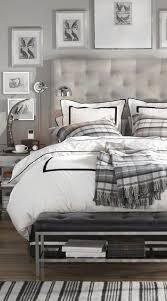 Grey Tufted Headboard I Like When Wall Galleries Don T Look Cluttered May Do Something