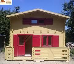 construire son chalet en bois chalet de loisirs paris 20m mezzanine 10m en bois en kit sans