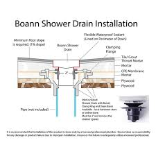 6 Floor Drain by Tile Insert Square Shower Trench Drain 6 U2033 X 6 U2033 U2013 Boann