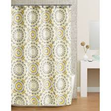 Grey And Yellow Shower Curtains Hometrends Global Floral Fabric Shower Curtain Yellow Walmart