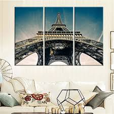 Eiffel Tower Garden Decor Modern Canvas Painting Eiffel Tower Art Picture Oil Painting Home