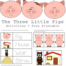 3 pigs activities free printables