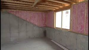 the basic material for insulating basement walls basement double