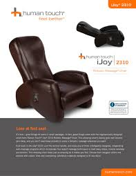 ijoy massage chairs ijoy 2310 robotic 1 2 pages