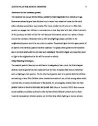 plan paper to write on solution write a 6 page paper describing my action plan for running head action plan for school fightingaction plan for school fighting and need for parent child communicationstudents name institution name 1action