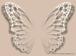 tattoos and doodles butterfly wings