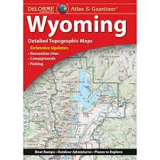 Wyoming Topo Map Delorme Atlas U0026 Gazetteer Wyoming