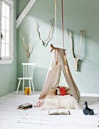 tente chambre enfant decoration branche bois deeco chambre enfant tente toile jute