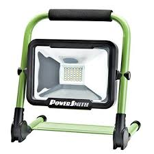 battery powered portable led work lights powersmith pwlr1120f 20w 1800 lm rechargeable foldable portable led