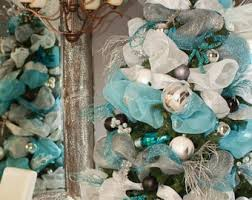 christmas white feather garland decoration ornament wreath