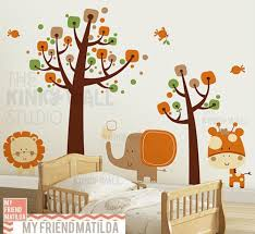 animal wall decals removable wall decals stickers by my friend children wall decal wall sticker tree decal safari animals kk130