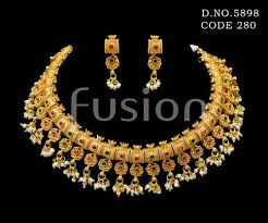 emerald necklace sets images Pearl ruby emerald necklace set at rs 1400 set necklace sets jpg
