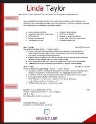 Resume Sample Teacher Assistant by Resume Resume Example Teacher