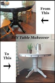 Dining Room Table Makeover Ideas Diy Table Makeover How To Add Nailhead Trim